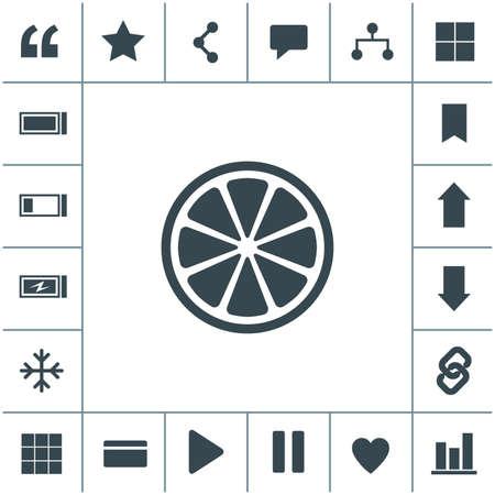 Orange or lemon slice vector icon.