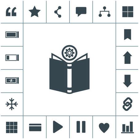 Open book vector icon.