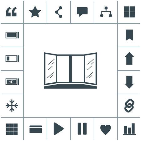 Open window vector icon. 矢量图像