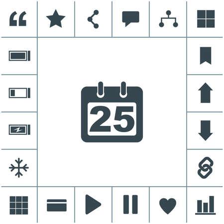 Calendar Icon with 25.