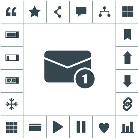 Email flat design illustration. Simple vector icon. 矢量图像