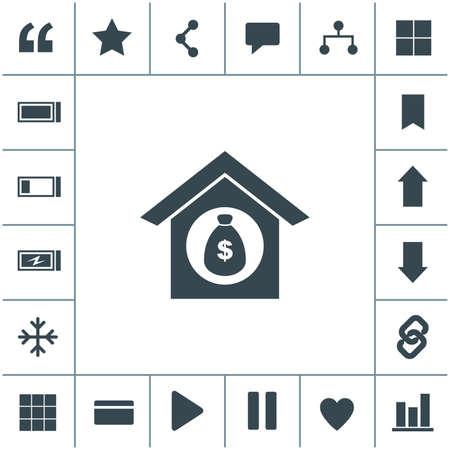 Mortgage vector icon.