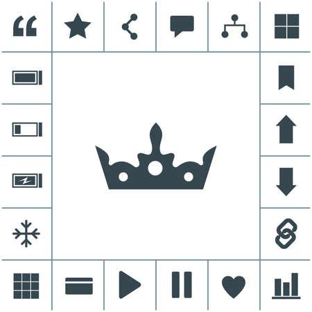 Crown vector icon. King hat symbol.