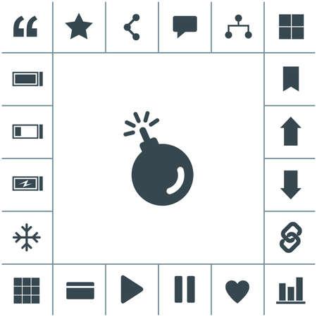 Bomb vector icon.