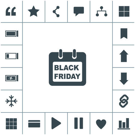 Calendar Icon. Black Friday icon.
