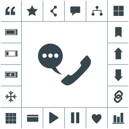 Telephone receiver vector icon. 矢量图像