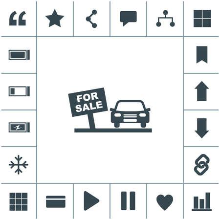 Car sale vector icon.