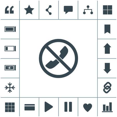 Forbidden call vector icon. Telephone not allow sign. No phone icon. 矢量图像