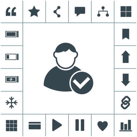 Vector icon of add friend contact. Add user sign icon. Avatar icon. 矢量图像