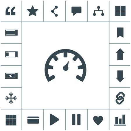 Tachometer vector icon. Car speedometer performance. 矢量图像