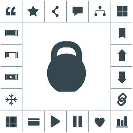 Weight vector icon.