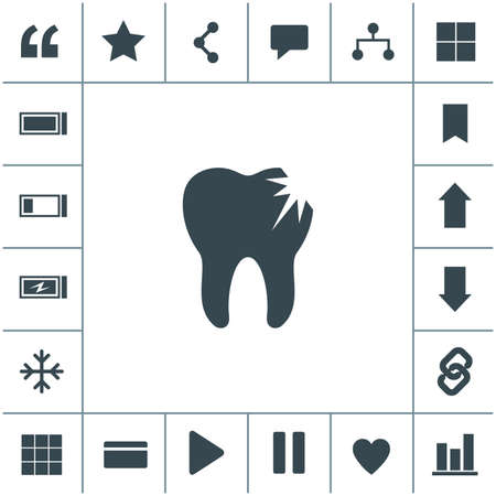 Tooth decay vector icon. 矢量图像