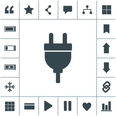 Electric plug vector icon. 矢量图像