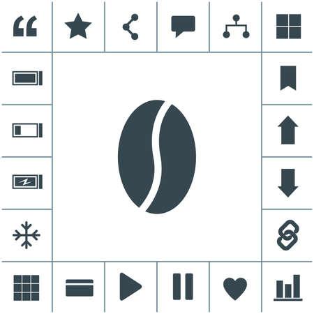 Coffee bean vector icon.