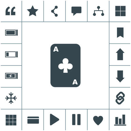 Vector ace playing card.