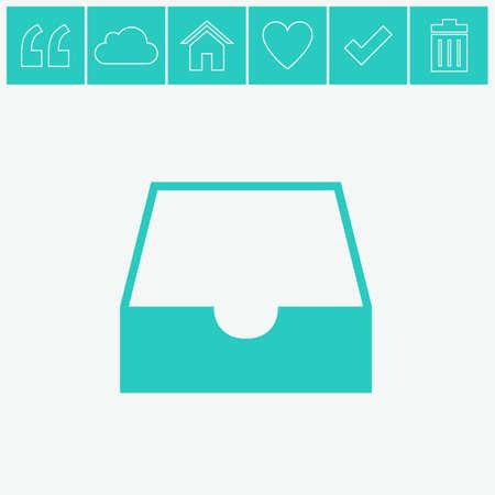 Box vector icon. Векторная Иллюстрация
