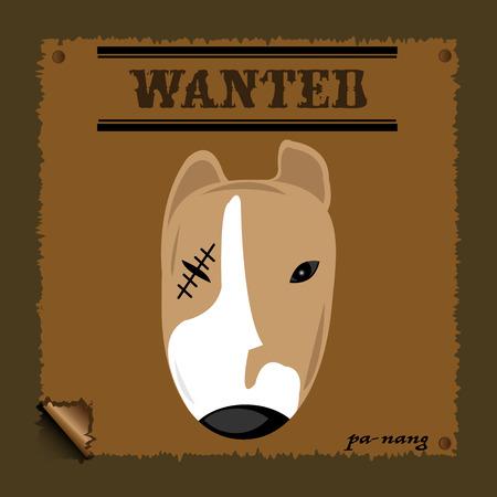 cartoon dog: Cartoon Wanted Dog