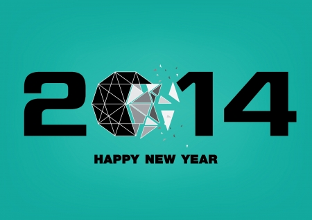 design happy new year 2014 eps 10 Vector