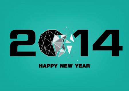 design happy new year 2014 eps 10