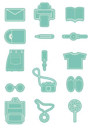 office travel icon business symbol sign set design illustration Illustration