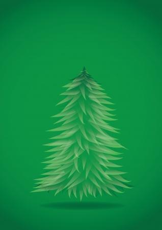 christmas, background, illustration, card, tree, holiday, winter, xmas, merry, decoration