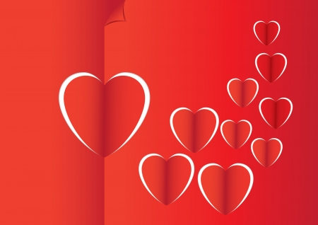 love, heart, design, paper, illustration, card, decoration, symbol, valentine, background, cut Vector