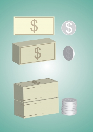coin stack: money, icon, coin, stack, loan, paper currency, financial item, dollar sign, white, step,