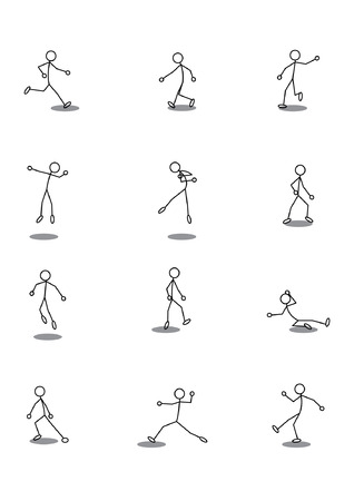 icon of Soccer Players in various Poses