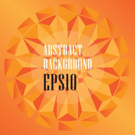 Abstract orange polygonal design geometrical background