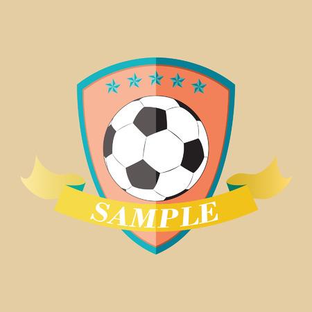 Vector illustration of football emblem