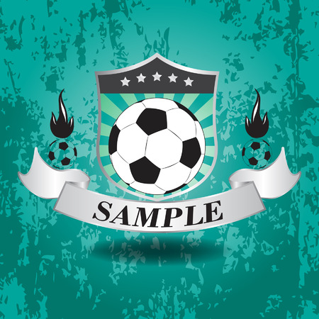 Vector illustration of soccer emblem icon
