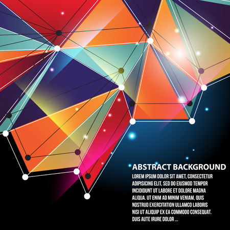 Abstract background created from polygons