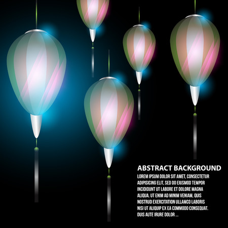 Abstract background lamps