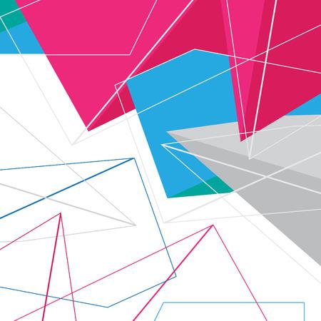 no 1: Abstract polygonal geometrical NO 1