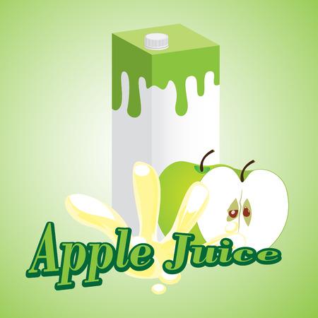 Apple Juice cartons with screw cap Vector
