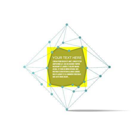 Abstract yellow bubble talk Illustration