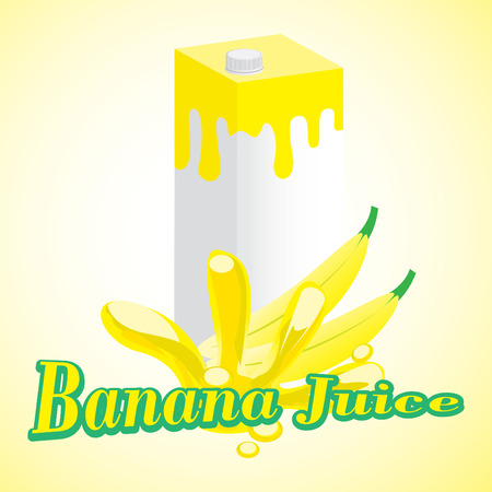 Banana Juice cartons with screw cap