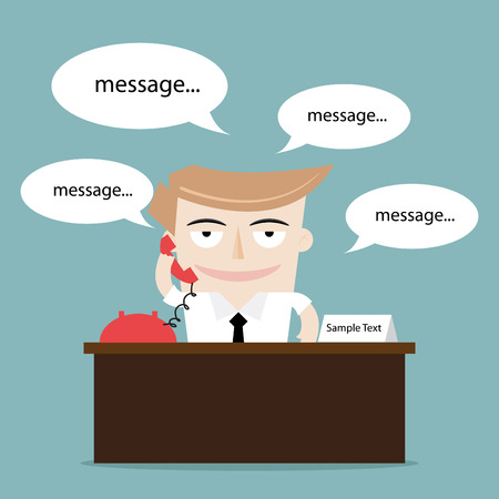 businessman talking using phone Vector