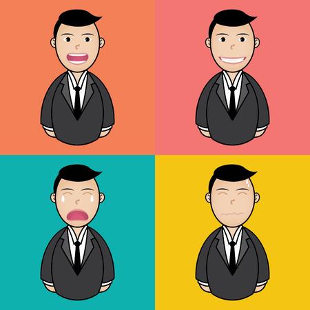 vexation: feeling businessman set