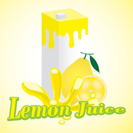 lemon Juice cartons with screw cap Vector