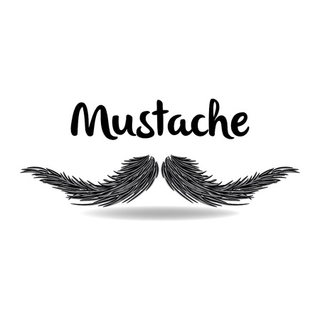 chaplin: Mustache  Vector Illustration