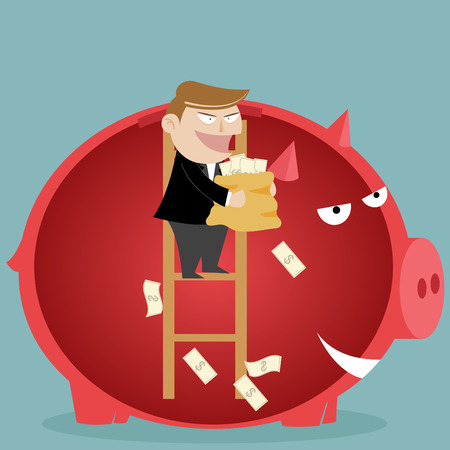 Piggy bank - saving money Vector