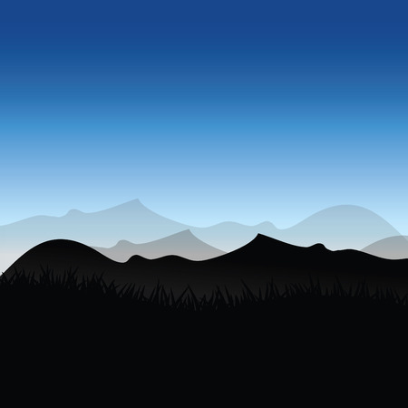 early morning: skies of early morning Illustration