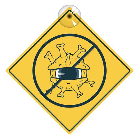 Stop Flu virus sign Stock Vector - 27170594