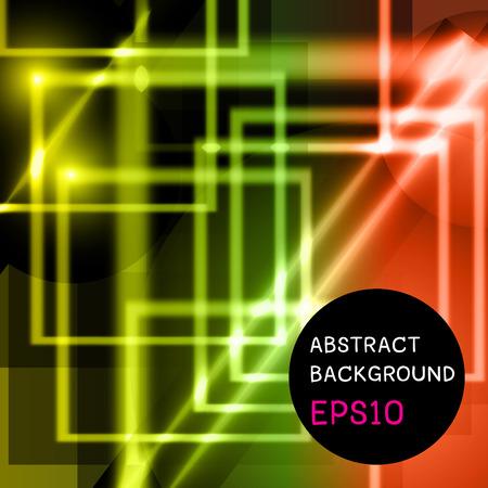 no 1: Vector illustration of abstract Squares design NO 1