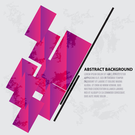 Vector illustration of abstract Squares pink design
