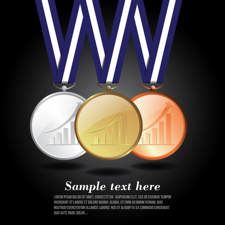Vector illustration of award success business Vector