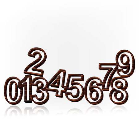 Vector illustration of number set