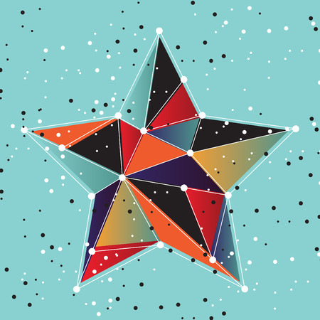 Vector illustration of star abstract background