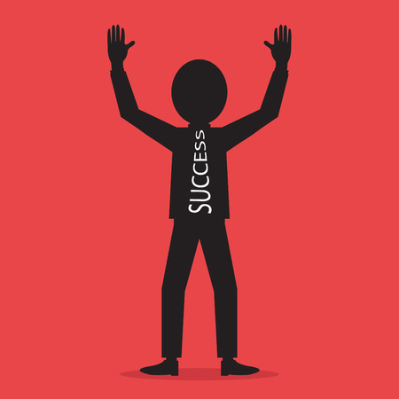 Vector illustration of Successful businessman